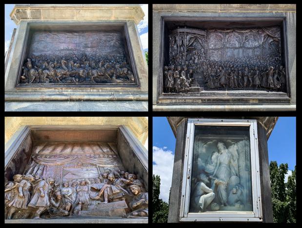 Side Panels sculpted by Nanasaheb Karmarkar