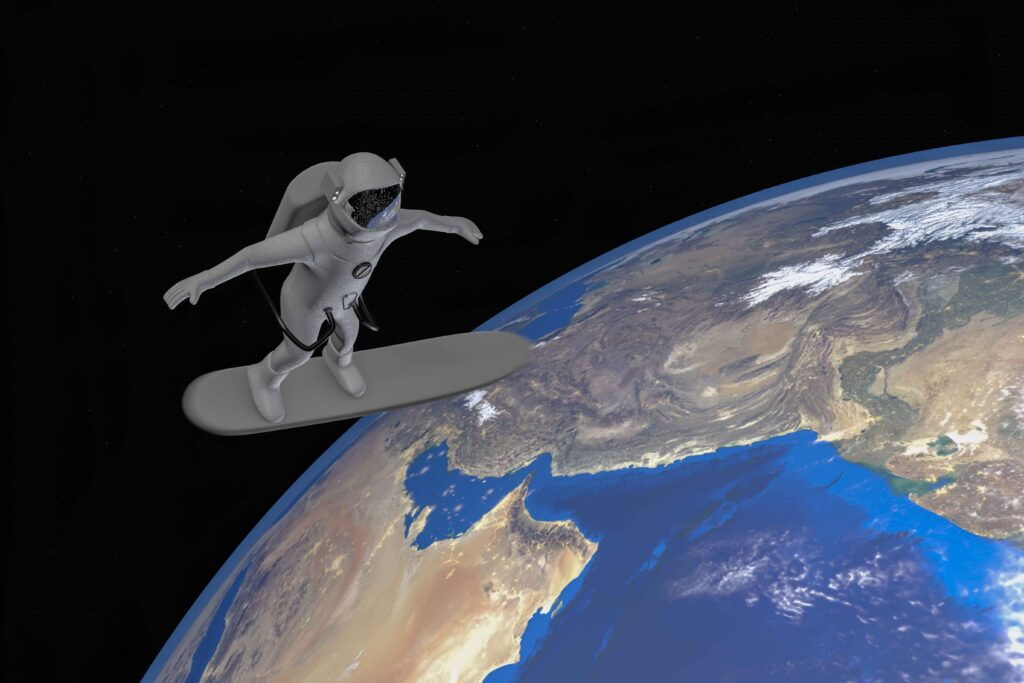 The final frontier, backpacks and surfboards in space