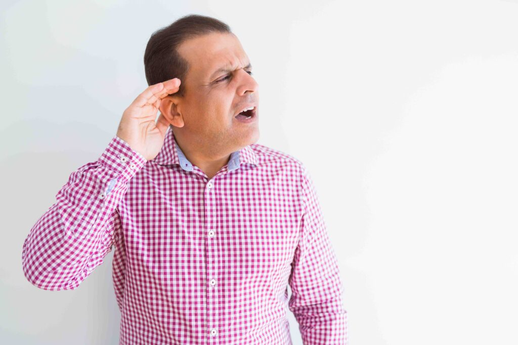 Difficulty in hearing which impacts your personal or business life is an indicator of hearing loss