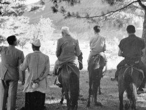 At Sonamarg with Rajiv Gandhi and Sanjay Gandhi