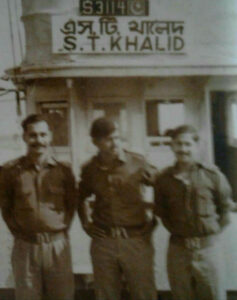 After taking charge of the Pakistani boat ST Khalid at Khulna Port, just before the surrender