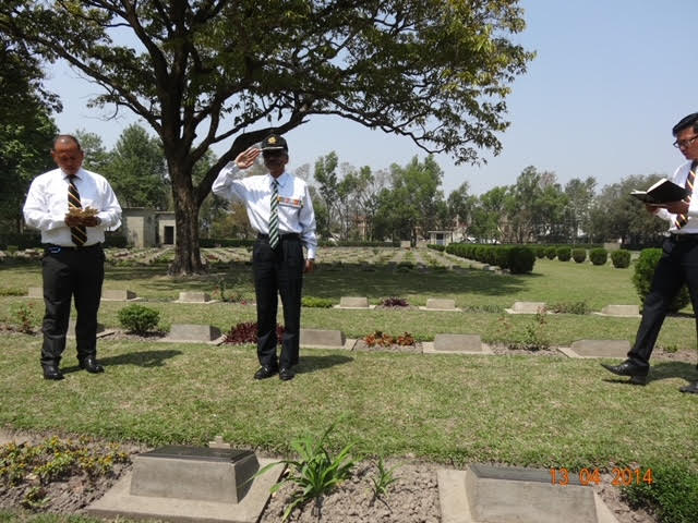 The author paying homage at the Imphal War Cemetery