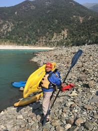 Ajay kayaking