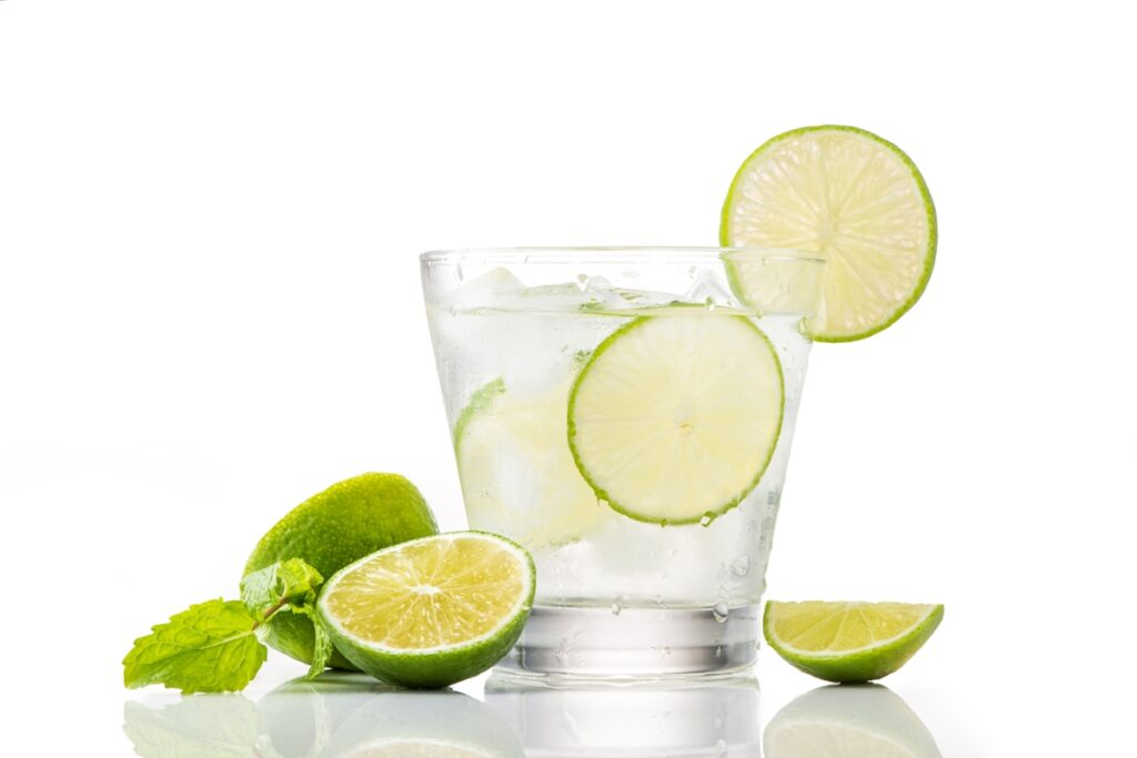 Replace soft drinks and packaged juices with water, and add a twist of lemon for taste