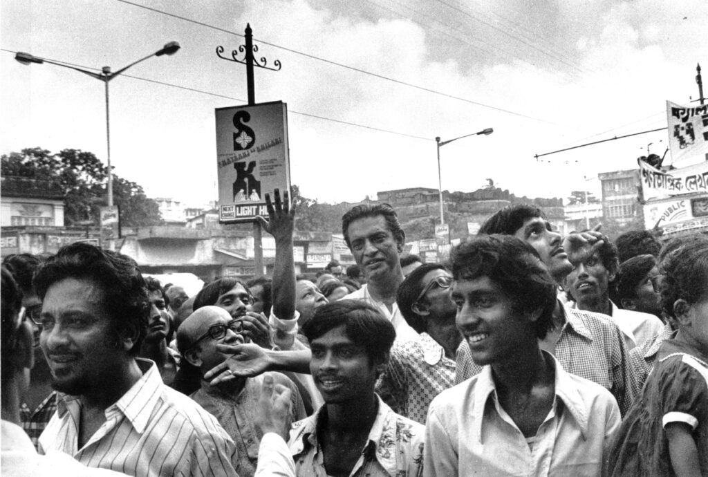 Satyajit Ray towered above everyone else, and with good reason. Photo by Nemai Ghosh
