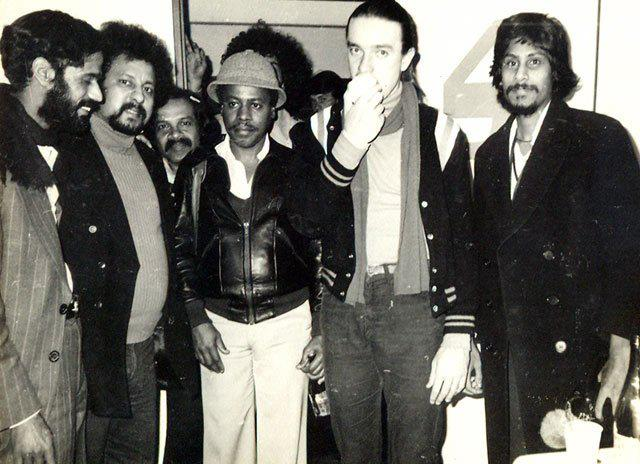 Banks with Jaco Pastorius (second from right)
