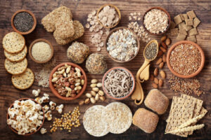 High,Fibre,Health,Food,Concept,With,Super,Foods,High,In